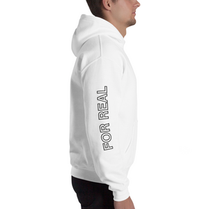 Side hoodie white right man
