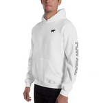 Side hoodie white frontleft man