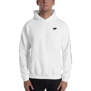 Side hoodie white front man