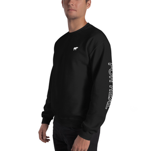 Side sweater black frontleft man