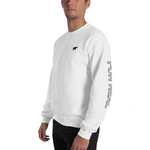 Side sweater white frontleft man
