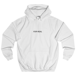 Globe hoodie white front