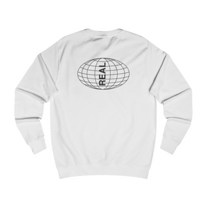 Globe sweater white back