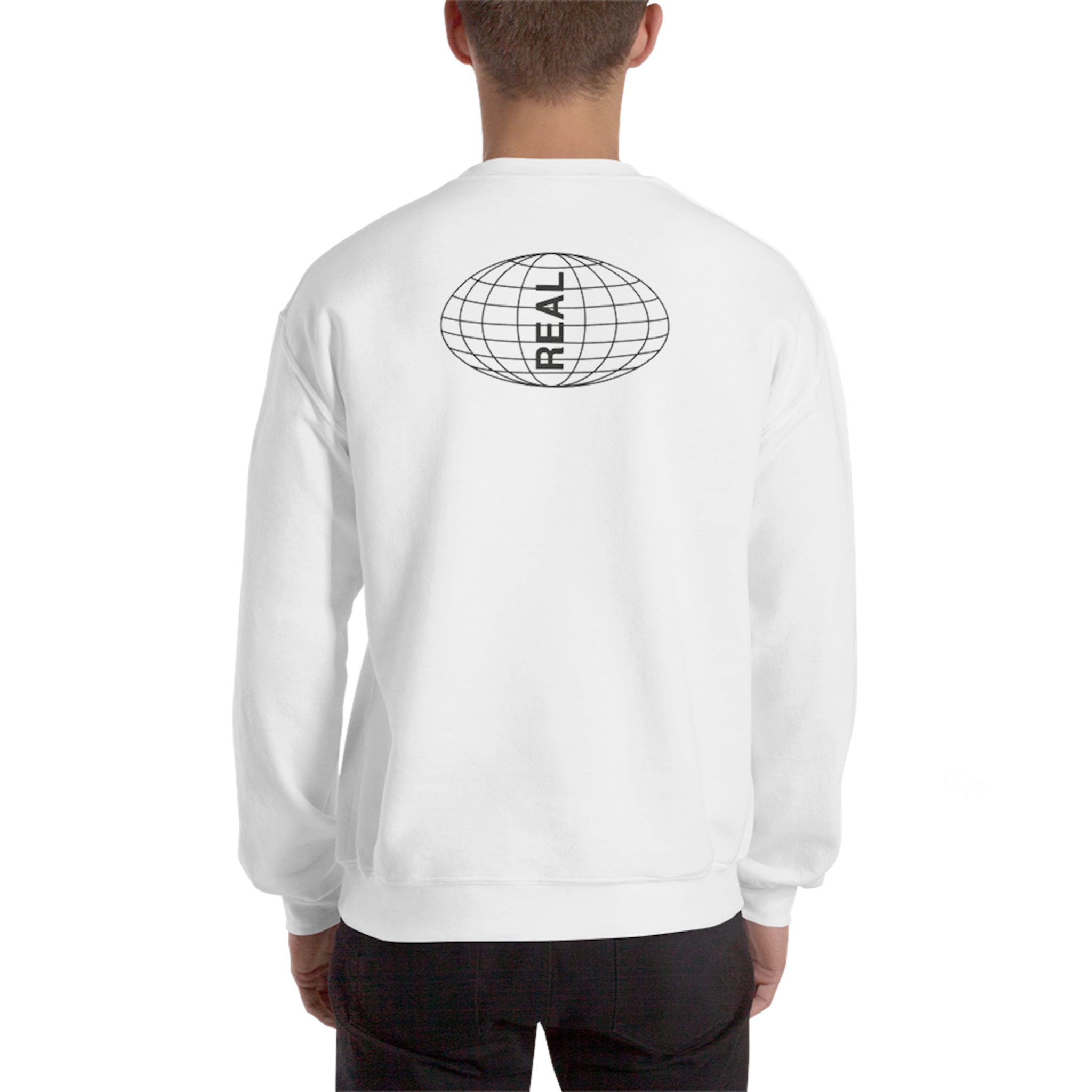 Globe sweater white back man