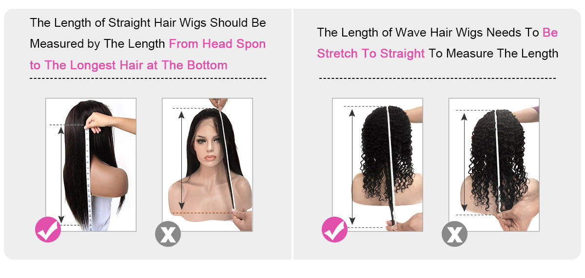how to measure the length of wigs|curlyme hair