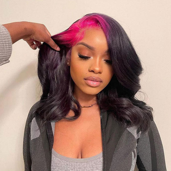 CurlyMe Affordable Brazilian Human Hair Body Wave Lace Front Wigs