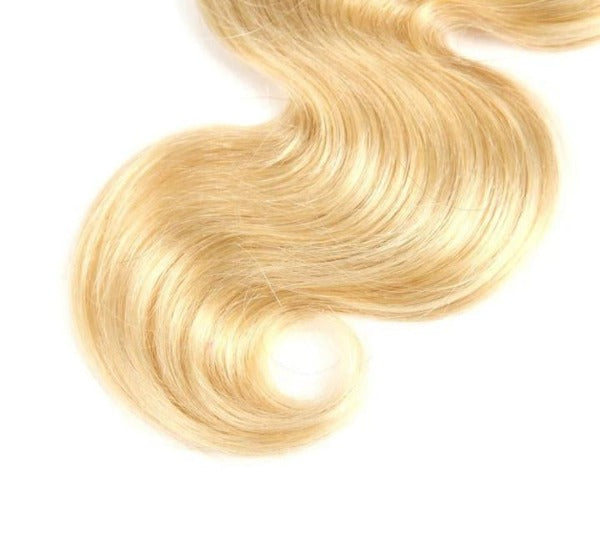 CurlyMe 9A Grade Body Wave #613 Blonde Human Hair 13x4 Lace Frontal
