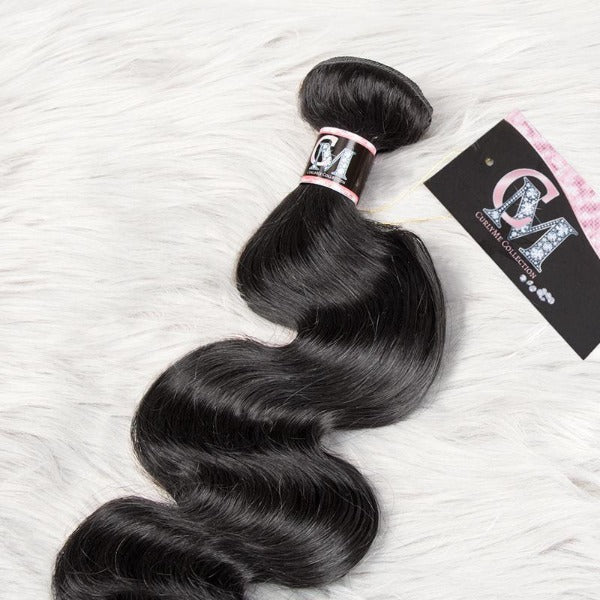 Body wave human hair 3 bundles with 4x4/5x5 lace closure-3