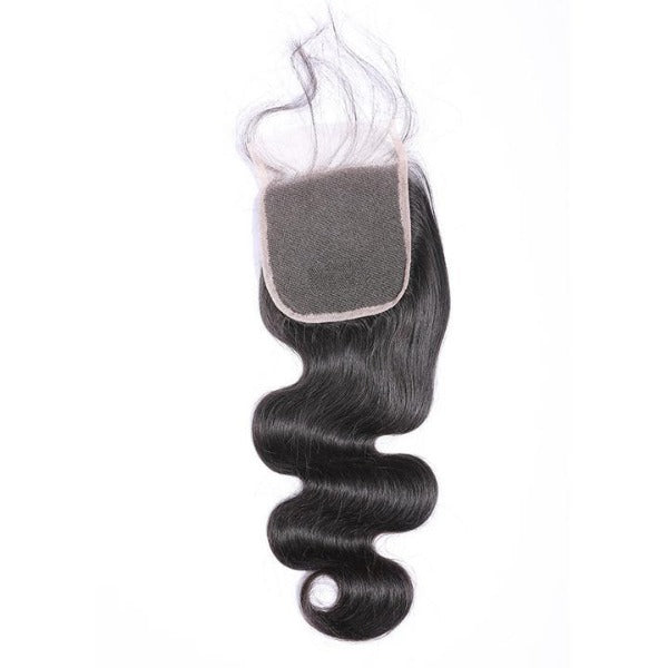 Body wave human hair 3 bundles with 4x4/5x5 lace closure-7