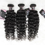Water wave human hair 3 bundles with 13x4/13x6 lace frontal-2