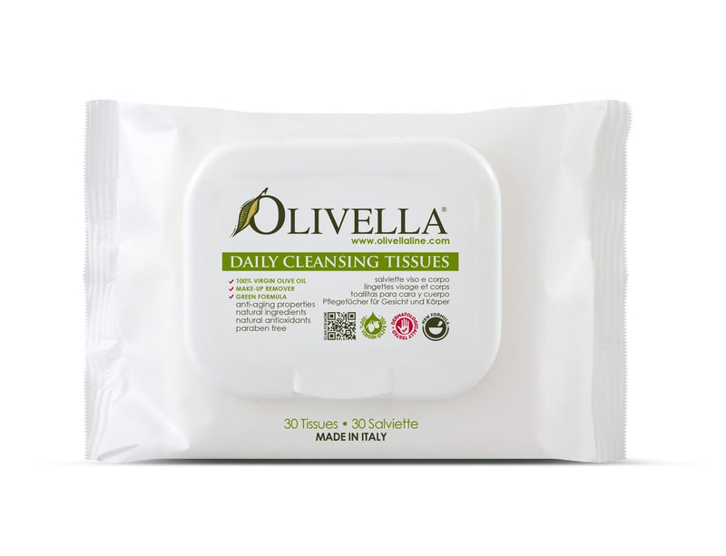 Olivella Face & Body Cleansing Tissues - Olivella Official Store