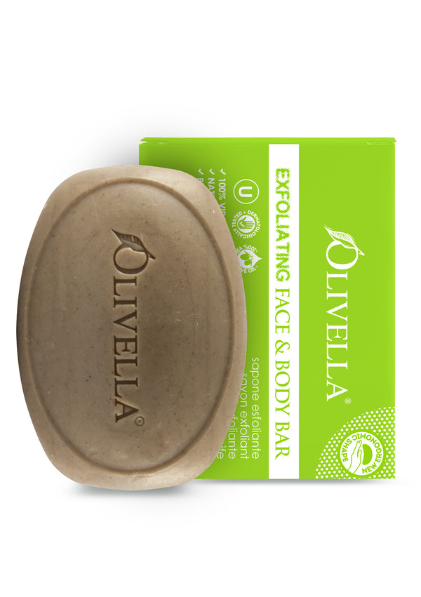 Olivella Exfoliating Bar Soap 5.29 Oz - Olivella Official Store