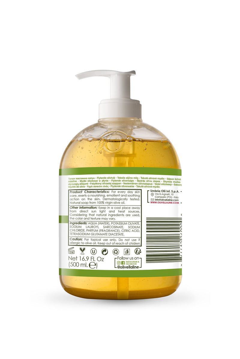 Olivella Face & Body Liquid Soap - Classic 16.9 Oz - Olivella