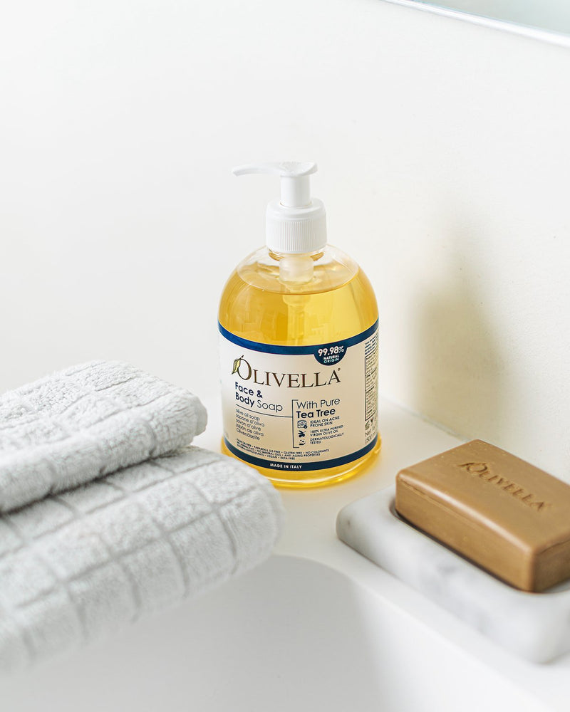 Olivella Tea Tree Liquid Soap Ideal on Acne Prone Skin - 500 ML - Olivella Official Store