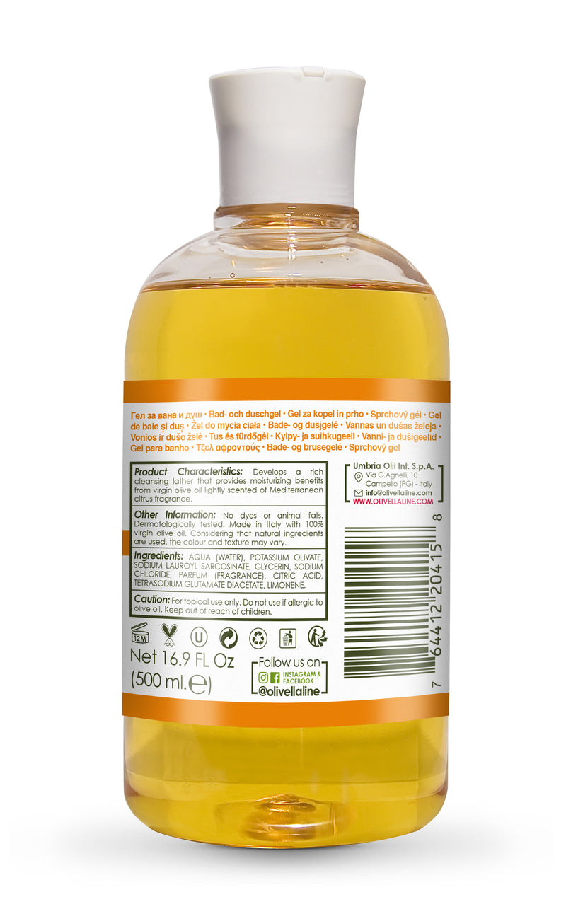 Olivella Bath & Shower Gel - Orange 16.9 Oz - Olivella Official Store