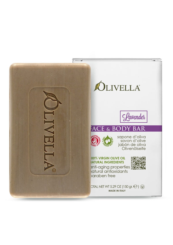 Olivella Bar Soap Lavender 5.29 Oz - Olivella Official Store