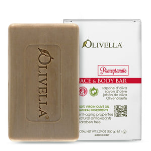 Olivella Bar Soap Pomegranate 5.29 Oz