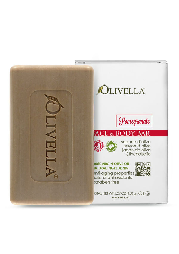Olivella Bar Soap Pomegranate 5.29 Oz - Olivella Official Store