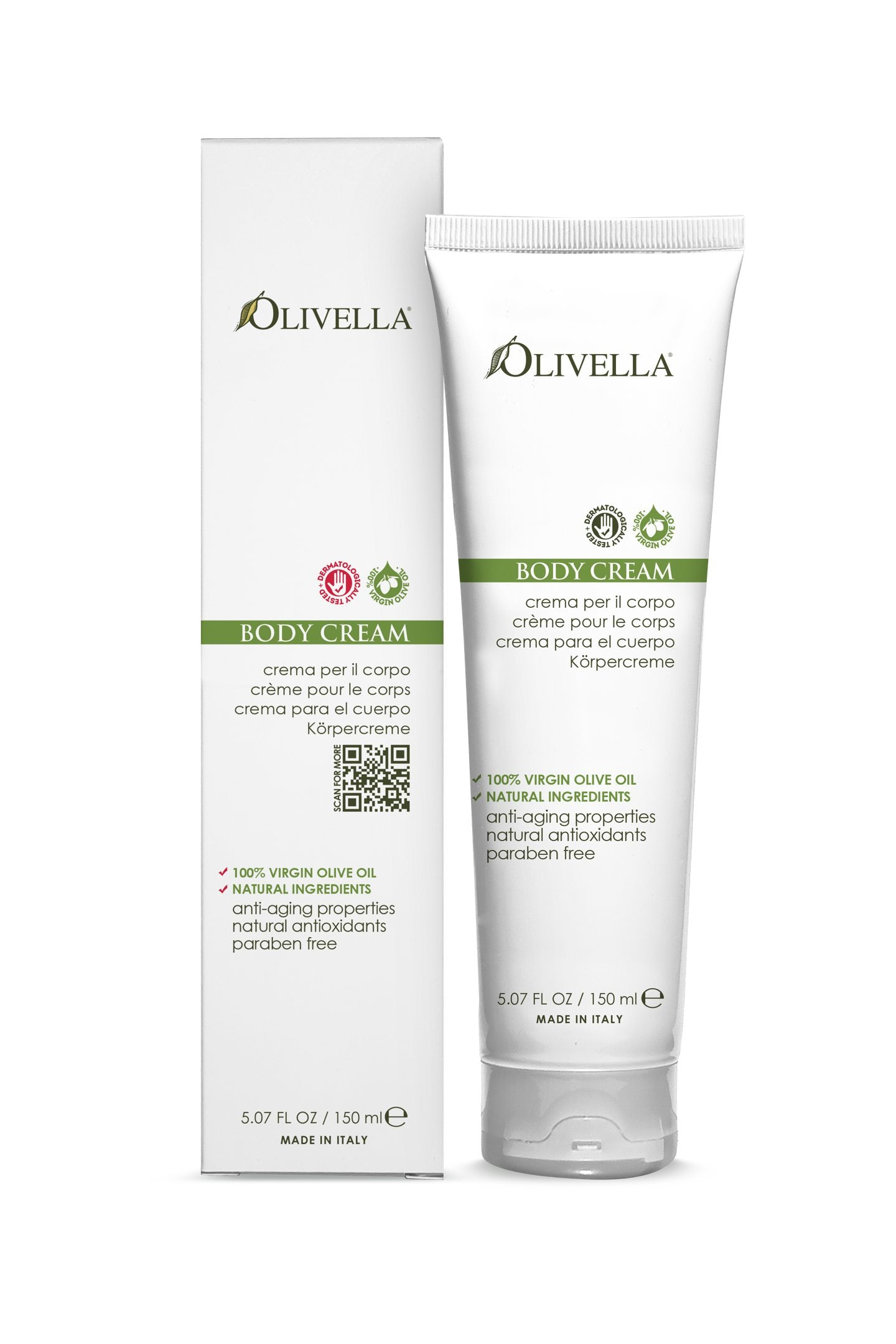 Olivella Body Cream 5.07 Oz - Olivella
