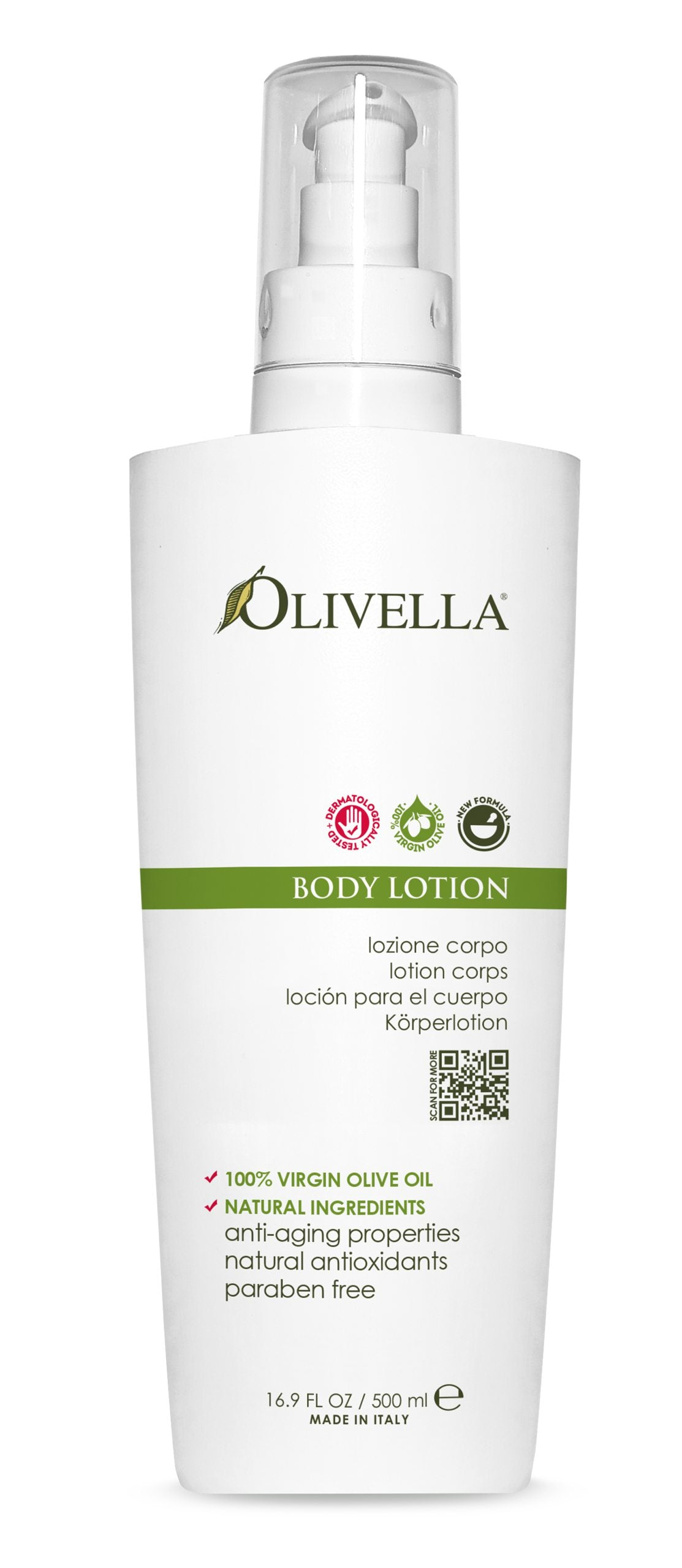 Olivella Body Lotion Pump 16.9 Oz - Olivella Official Store