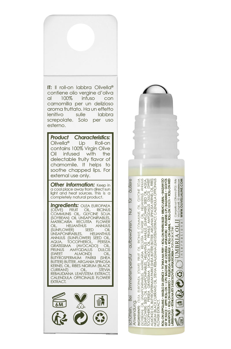 Olivella Lip Roll-On with Chamomile 0.33 Oz - Olivella Official Store