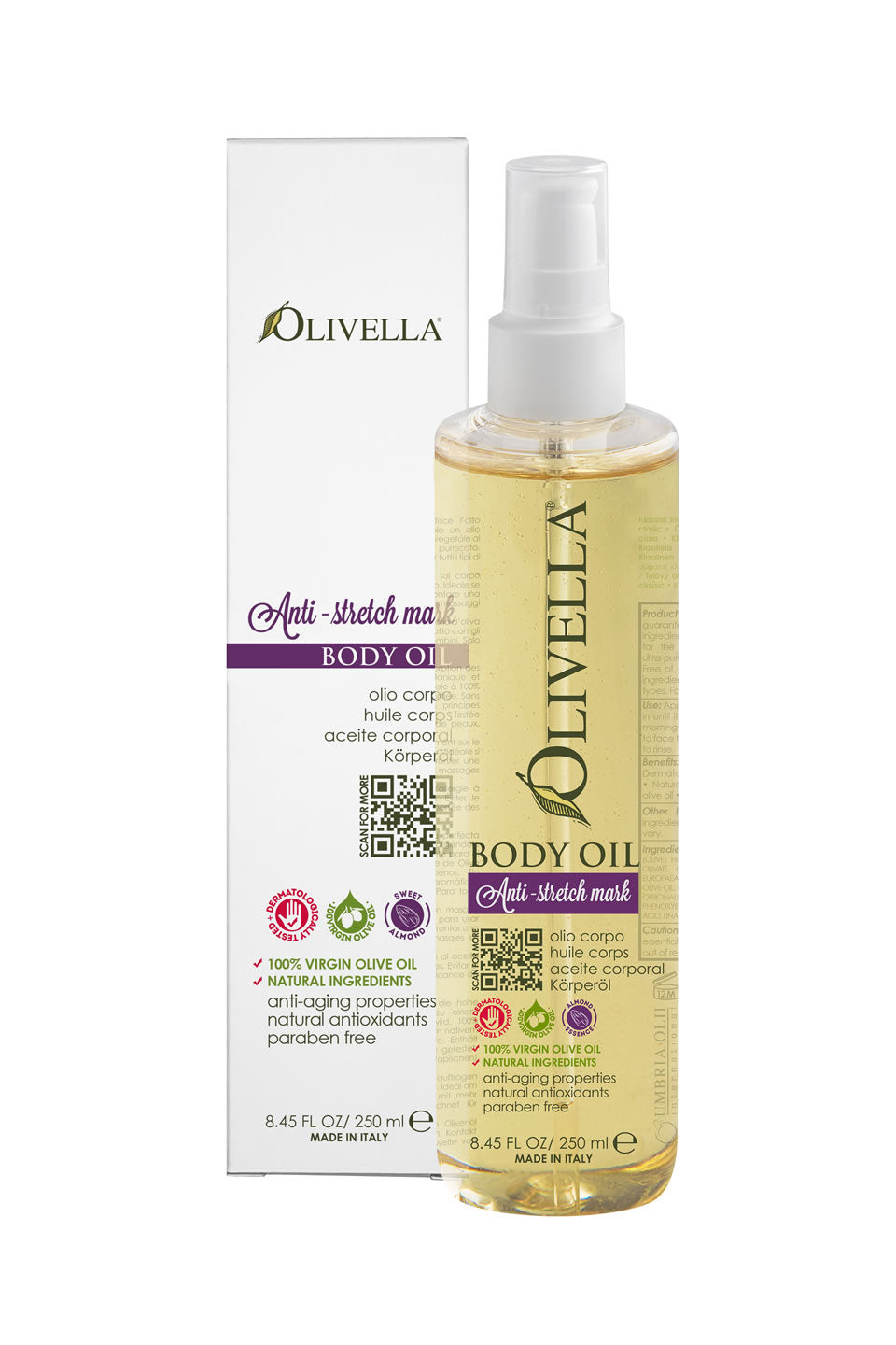 Olivella Body Oil - Anti-Stretch Mark 8.45 Oz - Olivella