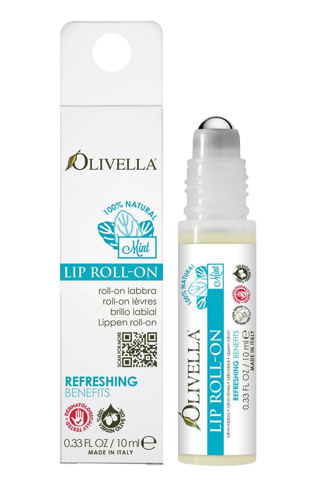 Olivella Lip Roll-On with Mint 0.33 Oz - Olivella Official Store