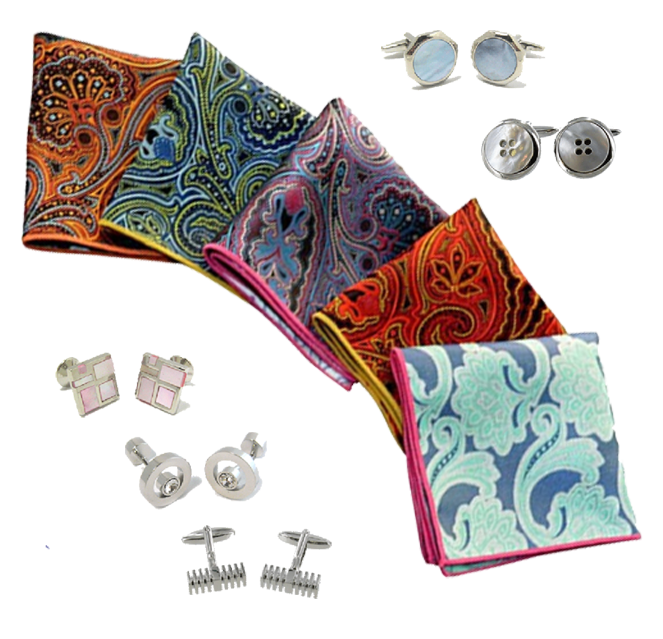 Pocket Square & Cufflink Monthly Subscription Box