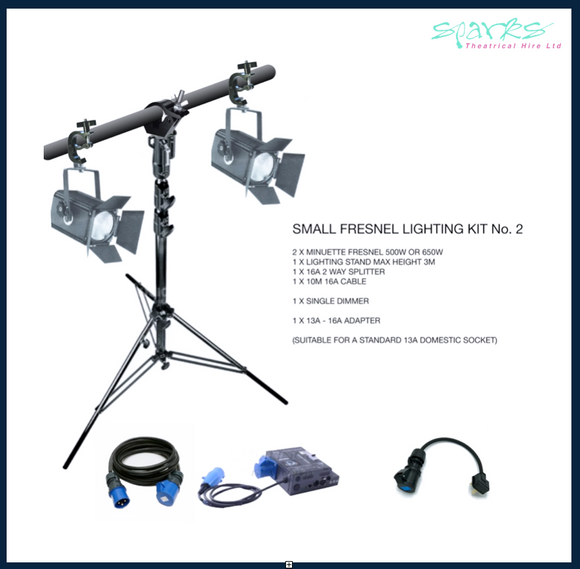 SMALL FRESNEL LIGHTING KIT 2
