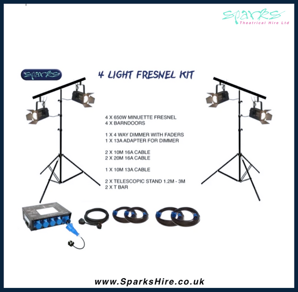 SMALL FRESNEL LIGHTING KIT 1