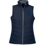 Blue ORS Ladies Quilted Vest - ONE RUN SPORTS