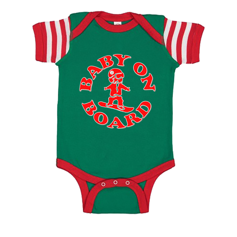 Red Green Baby On Board Onesie - ONE RUN SPORTS