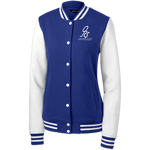 Women's Fleece Letterman ORS Jacket - ONE RUN SPORTS