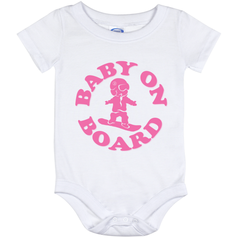 Baby On Board Pink Onesie 12 Month - ONE RUN SPORTS