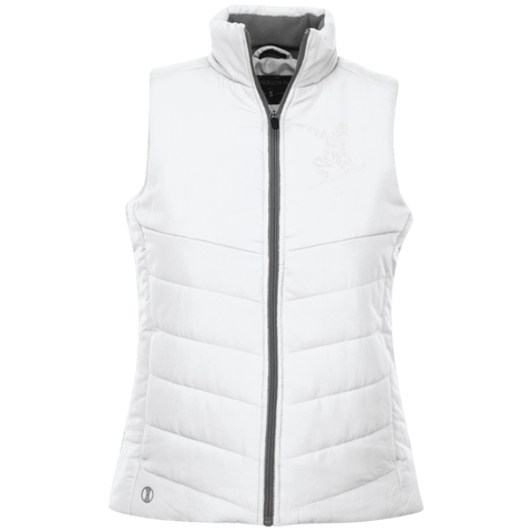 White ORS Ladies Quilted Vest - ONE RUN SPORTS