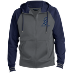 Men's Blue Sport-Full-Zip Hooded ORS Jacket - ONE RUN SPORTS