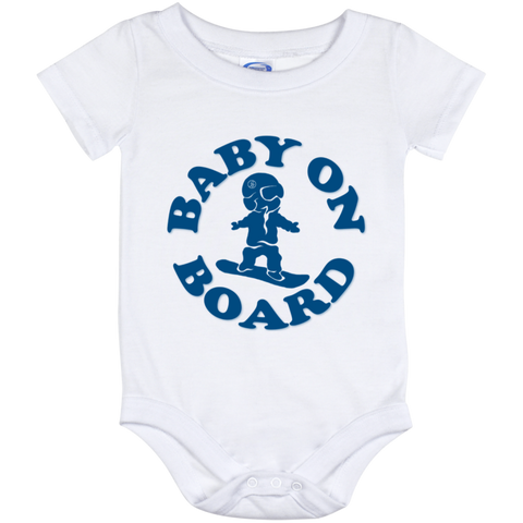 Baby On Board Blue Onesie 12 Month - ONE RUN SPORTS