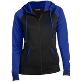 Ladies Blue Sport-Full-Zip Hooded ORS Jacket - ONE RUN SPORTS