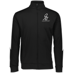 Sports Performance Full Zip Jacket Black/White - ONE RUN SPORTS