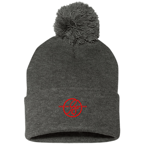 Pom Pom Knit Cap - ONe Run