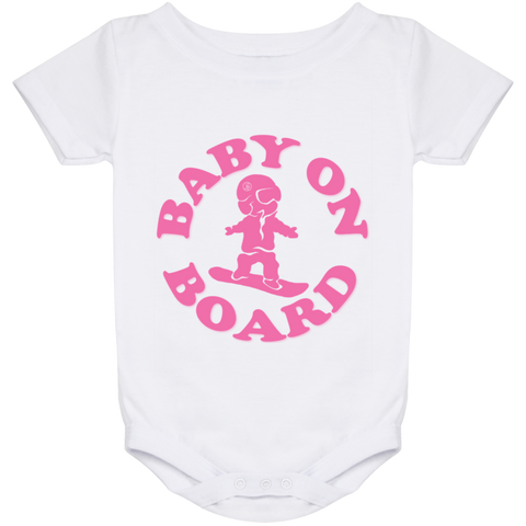 Baby On Board Pink Onesie 24 Month - ONE RUN SPORTS