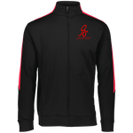 Sports Performance Full Zip Jacket  Black/Red - ONE RUN SPORTS