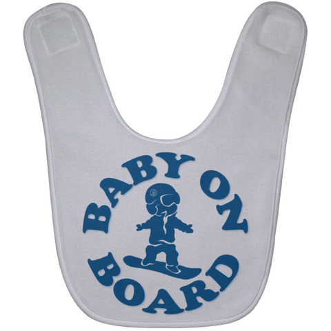 BABY ON BOARD Blue Baby Bib - ONE RUN SPORTS