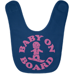 BABY ON BOARD Baby Pink Bib - ONE RUN SPORTS