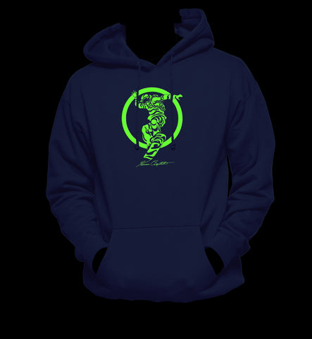 Green Shredding Hooded Sweatshirt