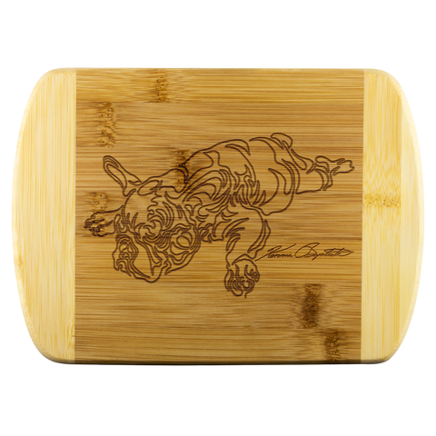 BULLDOG WOOD CUTTING BOARD