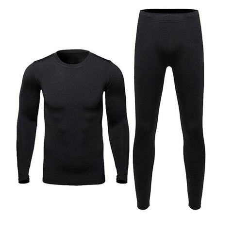 Men Fleece Thermal Base Layers-Tops & Pants Set
