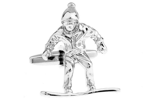 Snowboard Cufflinks - ONE RUN SPORTS