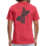 ONE RUN Fitted T-Shirt - heather red