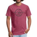 ONE RUN Fitted T-Shirt - heather burgundy